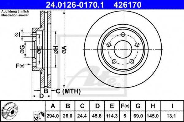 ATE 24012601701 Тормозной диск
