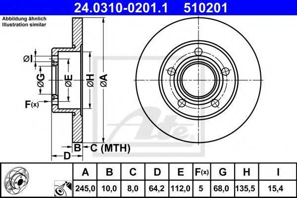 ATE 24031002011 Тормозной диск