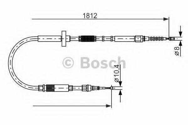 BOSCH 1987477659 Трос, стояночная тормозная система