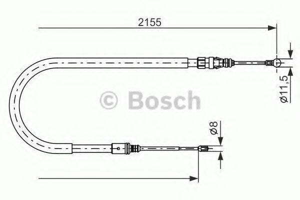 BOSCH 1987477994 Трос, стояночная тормозная система