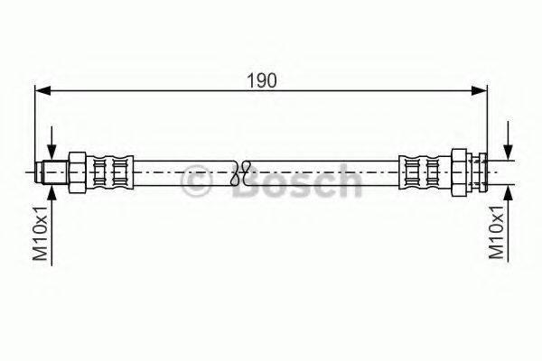 BOSCH 1987481011 Тормозной шланг