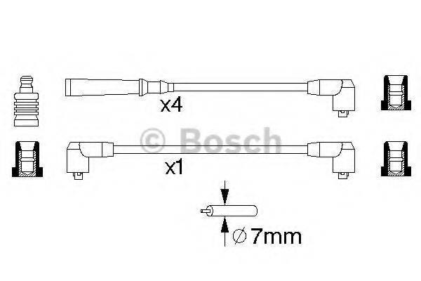 BOSCH 0986356790 Комплект проводов зажигания