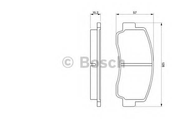 BOSCH 0986465111 Комплект тормозных колодок, дисковый тормоз