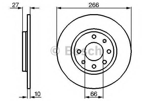BOSCH 0986478090 Тормозной диск