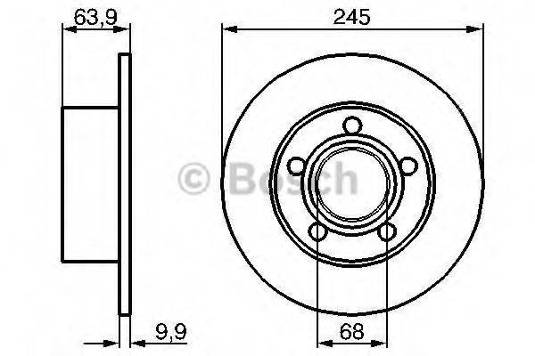 BOSCH 0986479B22 Тормозной диск