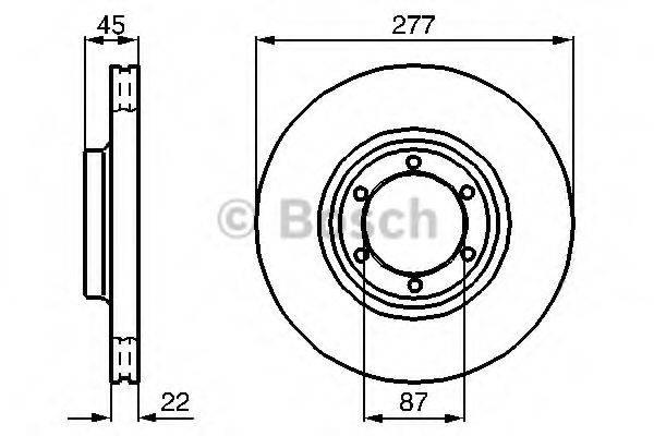 BOSCH 0986478635 Тормозной диск
