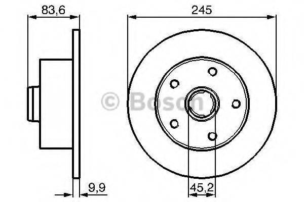 BOSCH 0986479B48 Тормозной диск