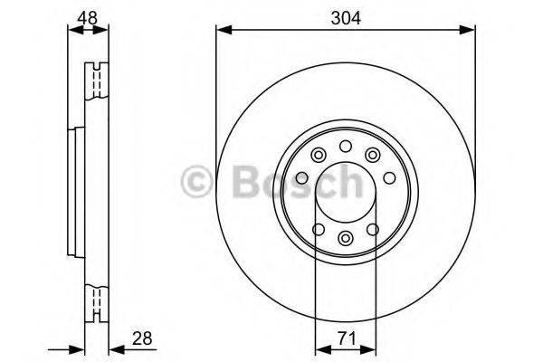 BOSCH 0986479C53 Тормозной диск