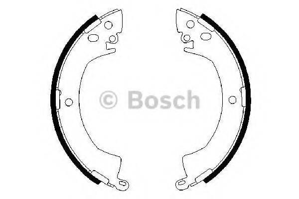 BOSCH 0986487207 Комплект тормозных колодок