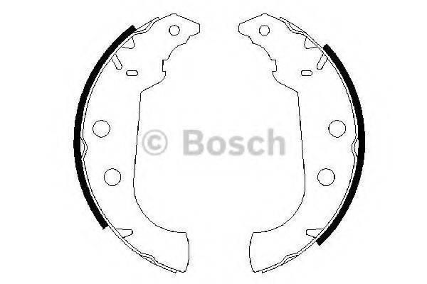 BOSCH 0986487243 Комплект тормозных колодок