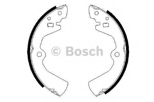 BOSCH 0986487300 Комплект тормозных колодок