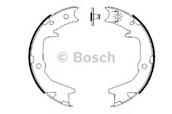 BOSCH 0986487683 Комплект тормозных колодок, стояночная тормозная система
