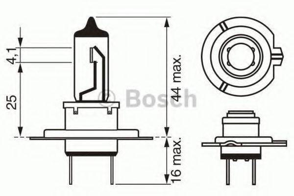 BOSCH 1987302073 Лампа накаливания, фара дальнего света; Лампа накаливания, основная фара