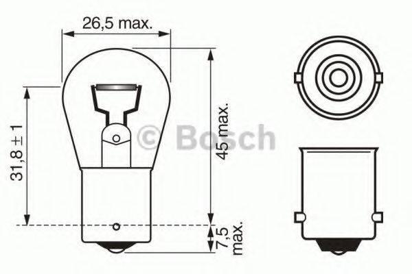 BOSCH 1987302280 Лампа накаливания, фонарь указателя поворота; Лампа накаливания, фонарь сигнала торможения; Лампа накаливания, задняя противотуманная фара; Лампа накаливания, фара заднего хода; Лампа накаливания, задний гарабитный огонь