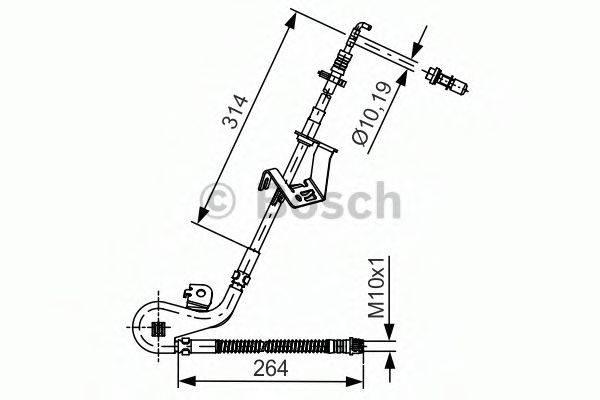 BOSCH 1987481428 Тормозной шланг