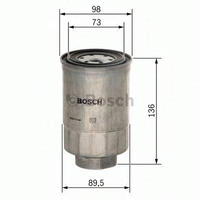 BOSCH 0986450508 Топливный фильтр