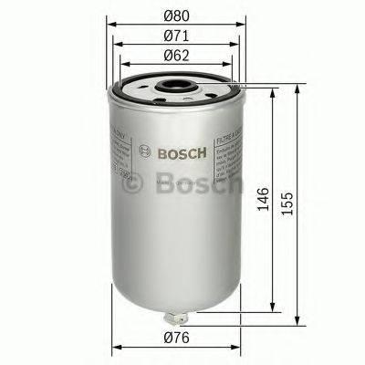 BOSCH 1457434447 Топливный фильтр