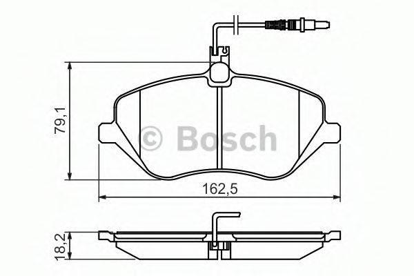 BOSCH 0986494484 Комплект тормозных колодок, дисковый тормоз