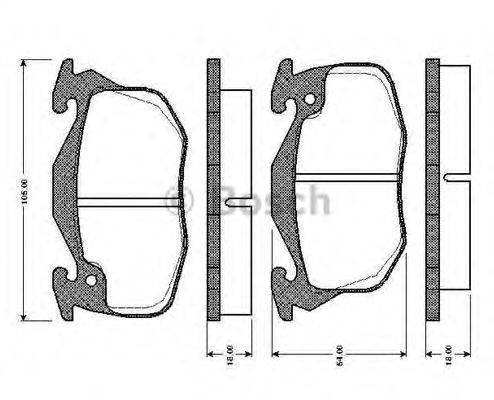 BOSCH 0986TB2101 Комплект тормозных колодок, дисковый тормоз