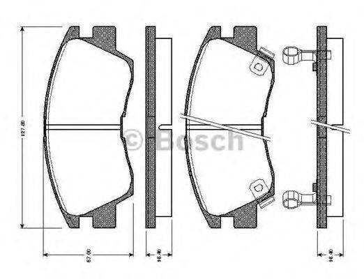 BOSCH 0986TB2154 Комплект тормозных колодок, дисковый тормоз