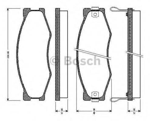 BOSCH 0986TB2098 Комплект тормозных колодок, дисковый тормоз