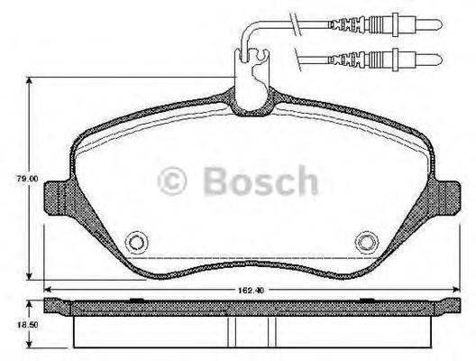 BOSCH 0986TB2880 Комплект тормозных колодок, дисковый тормоз