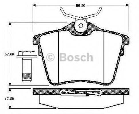 BOSCH 0986TB2881 Комплект тормозных колодок, дисковый тормоз