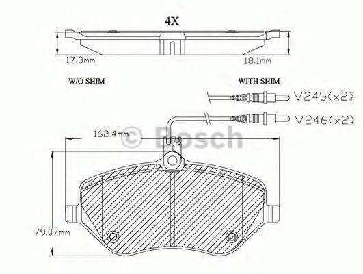 BOSCH F03A150029 Комплект тормозных колодок, дисковый тормоз