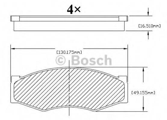 BOSCH F03B150213 Комплект тормозных колодок, дисковый тормоз