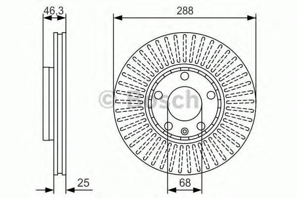 BOSCH 0986479R82 Тормозной диск