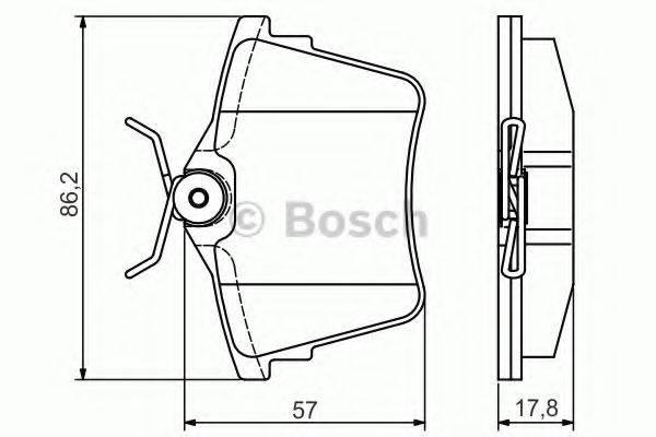 BOSCH 0986495090 Комплект тормозных колодок, дисковый тормоз