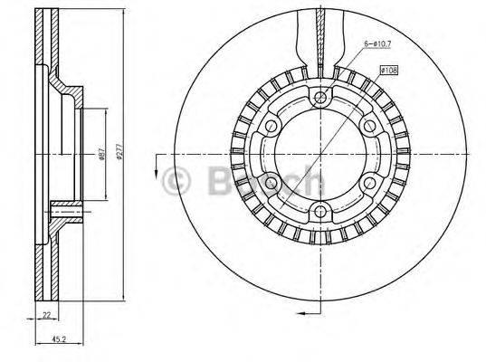 BOSCH 0986BB4352 Тормозной диск