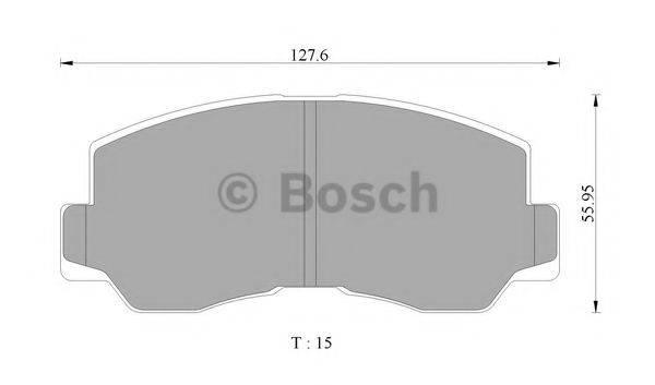 BOSCH 0986505330 Комплект тормозных колодок, дисковый тормоз