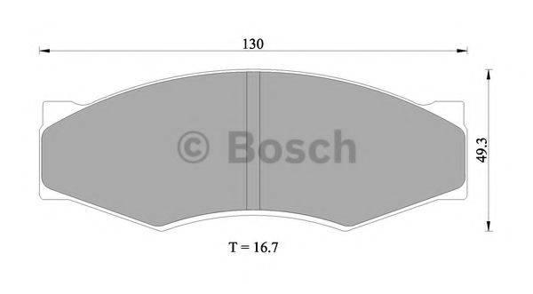 BOSCH 0986505344 Комплект тормозных колодок, дисковый тормоз