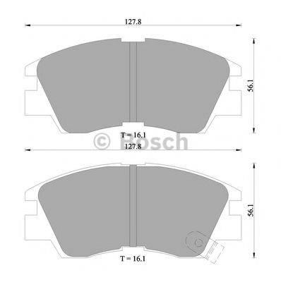 BOSCH 0986505360 Комплект тормозных колодок, дисковый тормоз