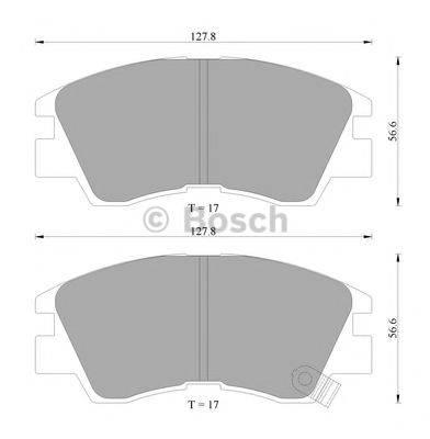 BOSCH 0986AB2013 Комплект тормозных колодок, дисковый тормоз