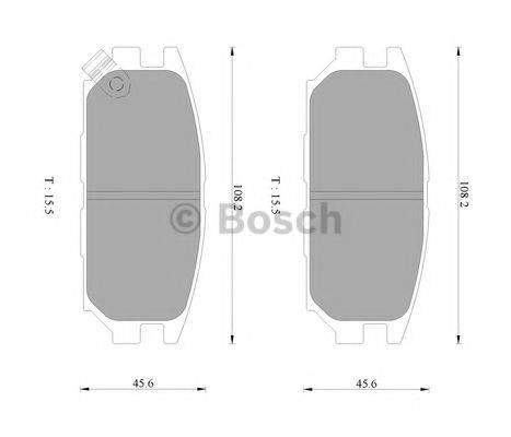 BOSCH 0986AB9226 Комплект тормозных колодок, дисковый тормоз