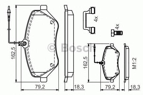 BOSCH 0986494585 Комплект тормозных колодок, дисковый тормоз