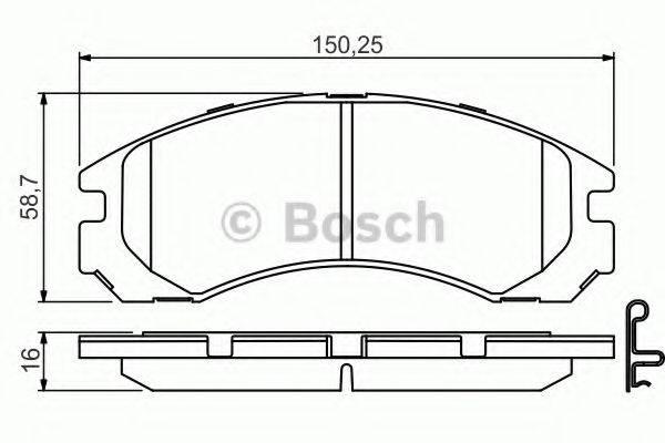 BOSCH 0986495252 Комплект тормозных колодок, дисковый тормоз