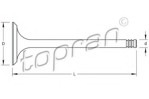 TOPRAN 100812 Выпускной клапан