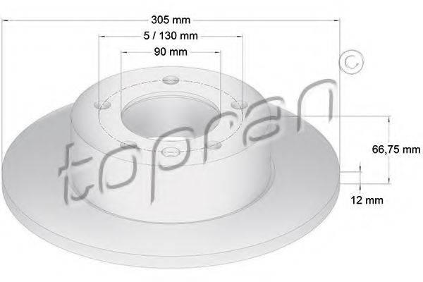 TOPRAN 207071 Тормозной диск