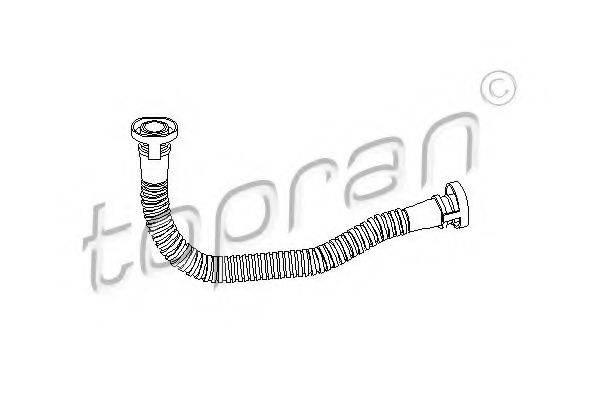 TOPRAN 111301 Шланг, воздухоотвод крышки головки цилиндра