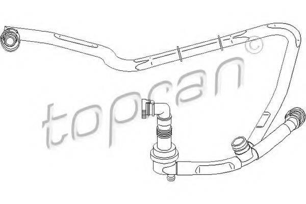 TOPRAN 111303 Шланг, воздухоотвод крышки головки цилиндра