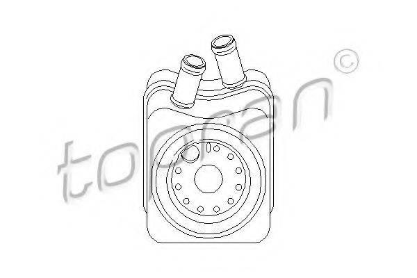 TOPRAN 101448 масляный радиатор, двигательное масло