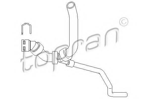 TOPRAN 111976 Шланг радиатора
