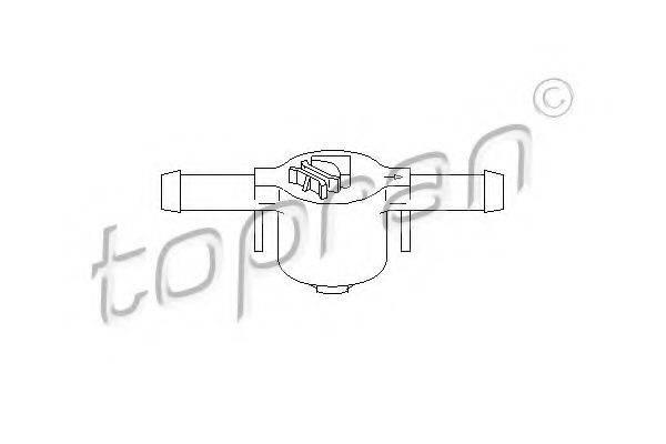 TOPRAN 109069 Клапан, топливный фильтр