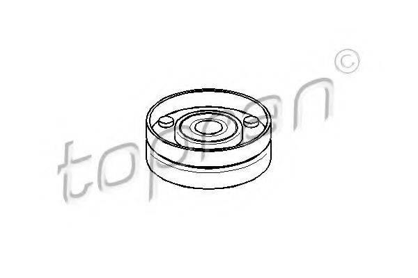 TOPRAN 109168 Паразитный / ведущий ролик, поликлиновой ремень