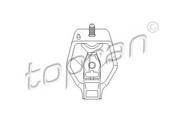 TOPRAN 107982 Подвеска, ступенчатая коробка передач