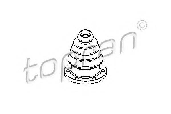 TOPRAN 109246 Пыльник, приводной вал