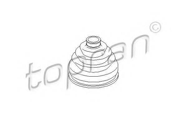 TOPRAN 104059 Пыльник, приводной вал